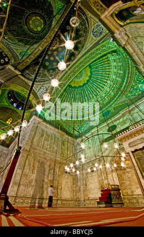 Praying in the Muhammad Ali Mosque; Citadel; Cairo - Stock Photo