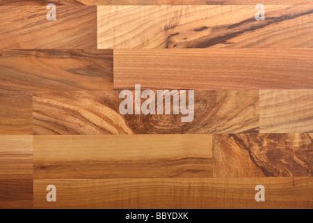 Beautiful laminate flooring with walnut texture - Stock Photo