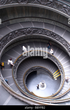 Spiral staircase at the Vatican Museum, Rome - Stock Photo