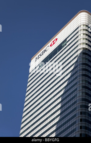 HSBC building in Canary Wharf in Docklands London England - Stock Photo