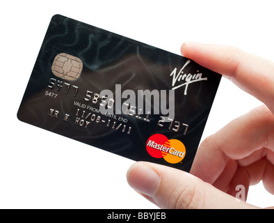 Credit card, hand holding - Stock Photo