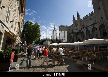 Palace of the popes, Avignon, France - Stock Photo