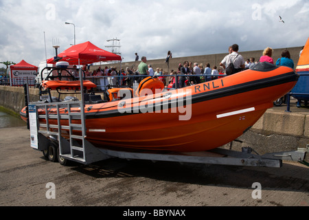 RNLI rib B class Atlantic 85 lifeboat jessie hillyard bangor county down uk - Stock Photo