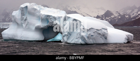 Ice landscapes from Antartica including amazing iceberg structures and features. - Stock Photo