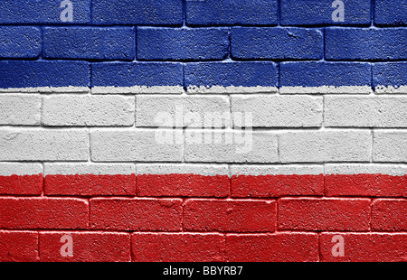 Flag of Serbia and Montenegro - Stock Photo