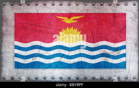 Great Image of the Flag of Kiribati - Stock Photo