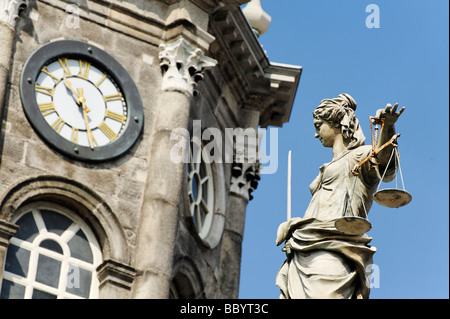 Statue of Justic Dublin Castle Republic of Ireland - Stock Photo