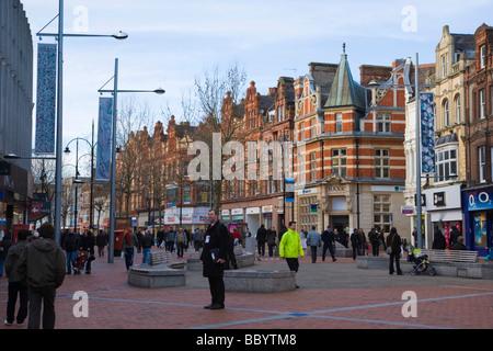 Broad Street, Reading, Berkshire, United Kingdom, Europe - Stock Photo