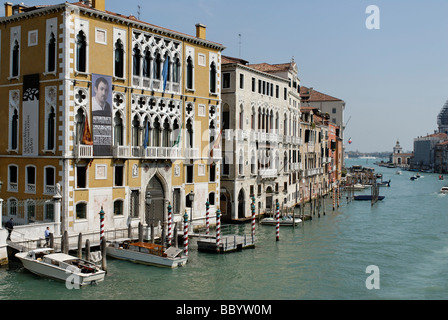Palazzo Franchetti Cavalli, Canale Grande, at the Ponte dell´Academia, Venice, Venezia, Italy, Europe - Stock Photo