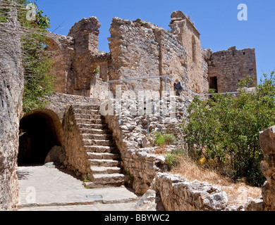 St. Hilarion Castle Ruins, near Girne, Kyrenia, Northern Cyprus, Cyprus, Turkish part, Southern Europe, Europe - Stock Photo