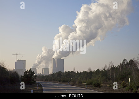Brown coal power station in Boxberg, Germany - Stock Photo