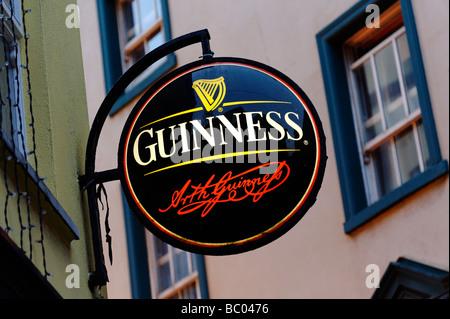 Guinness pub sign Dublin Republic of Ireland - Stock Photo
