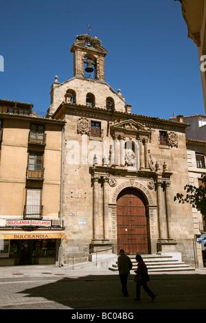 Iglesia de San Martín en Salamanca Castilla León España Church of Saint Martin in Salamanca Castilla Leon Spain - Stock Photo