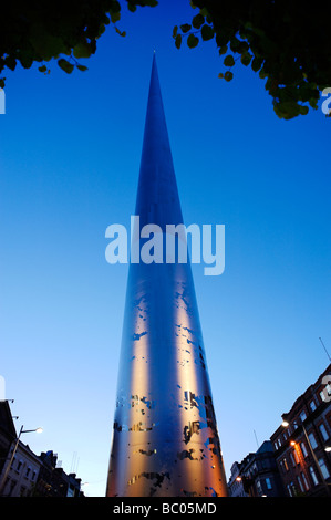 The Spire of Dublin officially titled the Monument of Light in O Connell St Dublin Republic of Ireland - Stock Photo