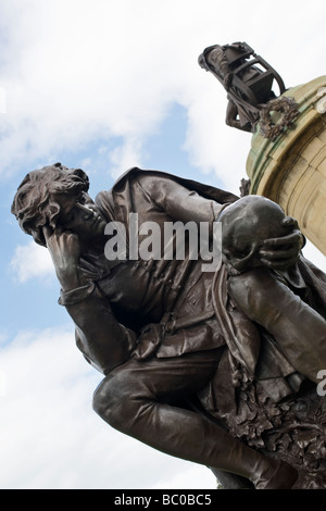 Gower memorial, hamlet sculpture, Stratford Upon Avon, Warwickshire, England - Stock Photo