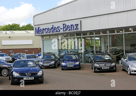 Mercedes benz on a used car sales lot california usa for Mercedes benz usa dealers