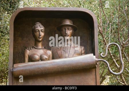 Ein Hod Scuplture by Benjamin Levy Hof Carmel Israel - Stock Photo