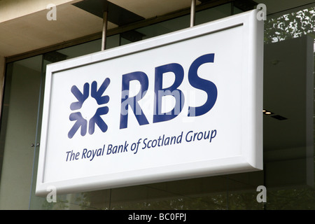 royal bank of scotland group sign on st philips place birmingham uk - Stock Photo
