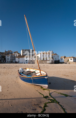 Fishing boats in St Ives Harbour Cornwall - Stock Photo