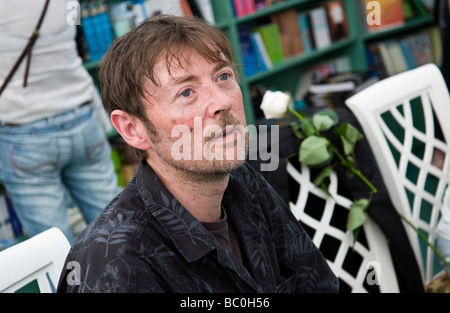 Mexican novelist DBC Pierre born Peter Warren Finlay in Australian pictured at Hay Festival 2009 - Stock Photo