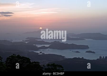 Sunset over the Caribbean sea. - Stock Photo