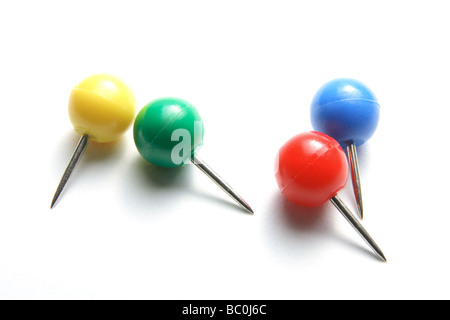 Round Head Push Pins - Stock Photo