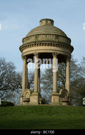 Barrans Fountain in Roundhay Park Leeds - Stock Photo