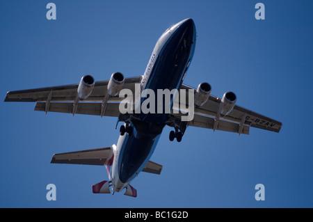 G-BZAV BAe 146 Plane - Stock Photo
