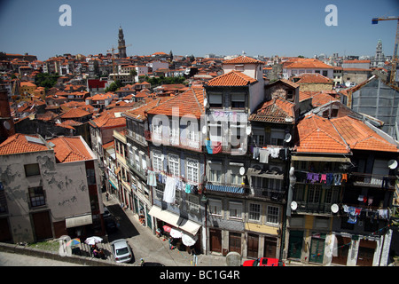 View from the Sé Cathedral Porto - Stock Photo