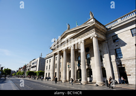 The General Post Office GPO building on O Connell Street Dublin Republic of Ireland - Stock Photo