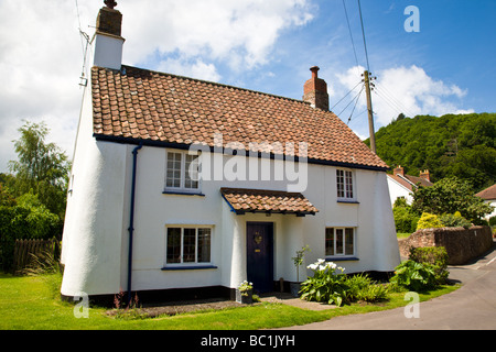 Cottage in Dunster Somerset England UK - Stock Photo