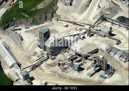 Quarrying Operations, Derbyshire Peak District, Northern England - Stock Photo