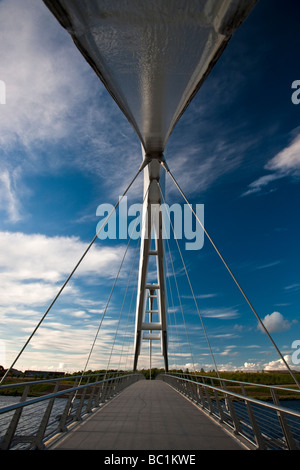 The Infinity Bridge Stockton on Tees opened May 2009 North East England Stock Photo