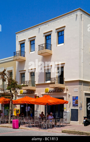 McDonald's restaurant near Eleftherias Square in the centre of Kos Town on the Greek island of Kos in the Dodecanese - Stock Photo