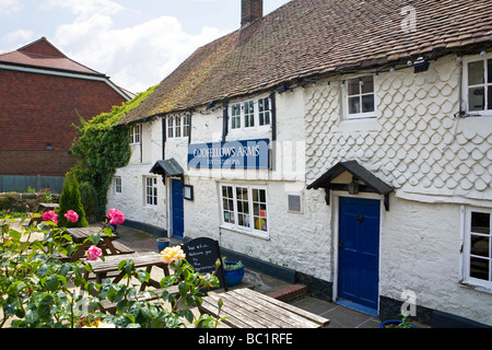 The Oddfellows Arms Pub and restaurant, Pulborough, West Sussex, UK - Stock Photo