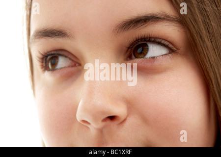 Close-Up Of Teenage Girl's Eye - Stock Photo