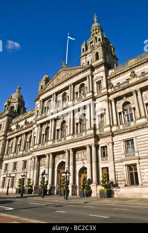 dh City Chambers GEORGE SQUARE GLASGOW City chambers front enterance