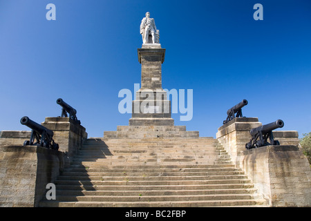 The memorial to Admiral Lord Collingwood, one of the heroes of the Battle of Trafalgar in October 1805. - Stock Photo
