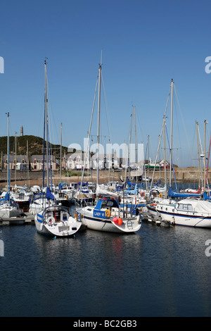 The picturesque harbour of the former fishing village of Findochty, Aberdeenshire, Scotland, UK - Stock Photo