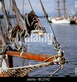 The close up of the tall ship's nose - Stock Photo