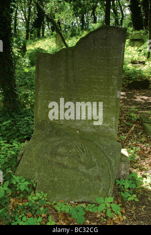 Blessing Hands Symbol At Headstone Of Priest At Jewish Cemetery In