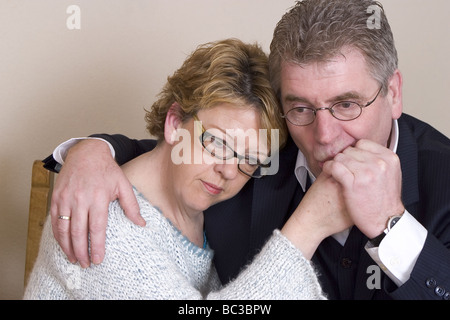 Sad  frustrated adult couple tension - Stock Photo