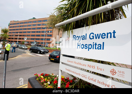 Royal Gwent Hospital, Newport Gwent South Wales - Stock Photo