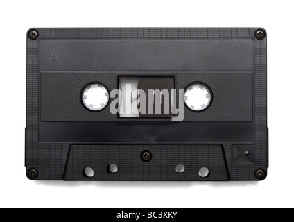 Audio cassette on white background - Stock Photo