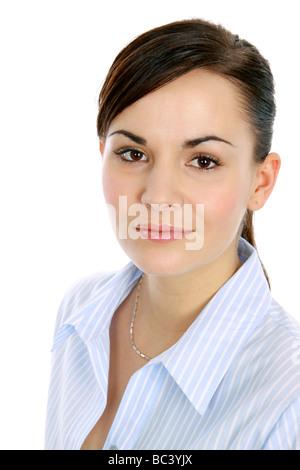 dunkelhaarige Frau dark haired woman portrait - Stock Photo
