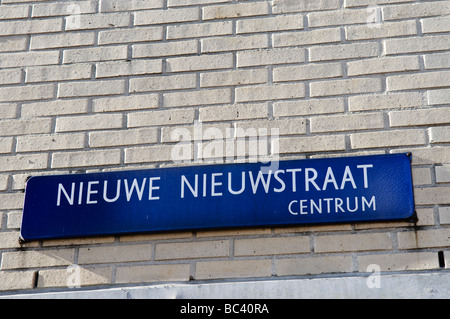 Street sign 'Nieuwe Nieuwstraat' or 'New New Street' - Stock Photo