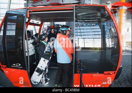 BC Whistler resort gondola - Stock Photo