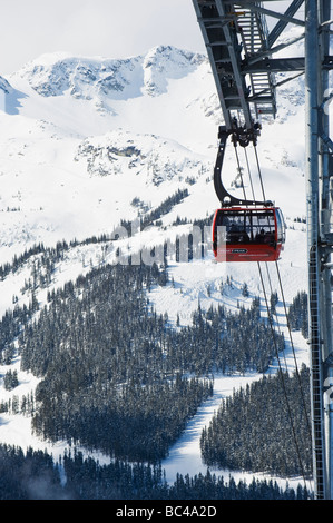 BC Whistler resort gondola - Stock Photo