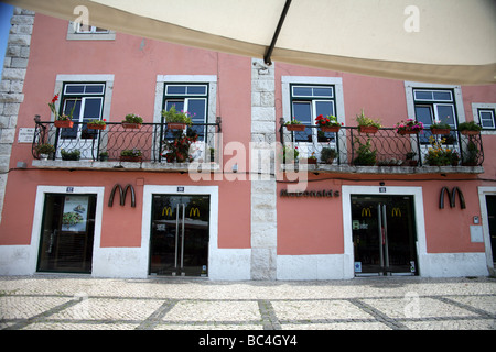 McDonalds Belem district of lisbon portugal - Stock Photo