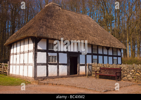 Abernodwydd Farmhouse St Fagans Cardiff Wales - Stock Photo